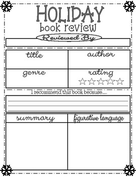 Holiday/Christmas Book Review Project