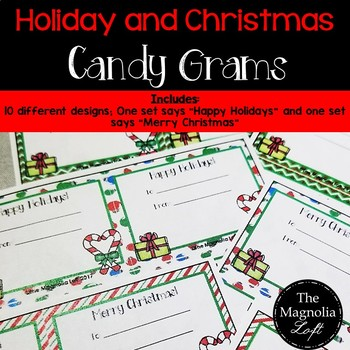 Holiday / Christmas Candy Grams
