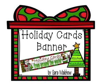 Holiday Christmas Cards around the World Banner