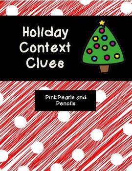 Holiday Christmas Context Clues PRINTABLE!