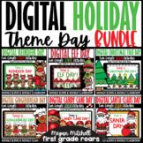 Holiday Christmas Digital Theme Day Bundle | Google Slides Distance Learning