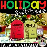 Holiday Gift Tags with Christmas Llamas: Fa-La-La-La-Llama!