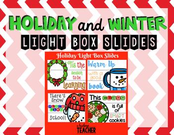 Holiday Christmas Light Box Slides