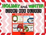 Holiday Christmas Light Box Slides