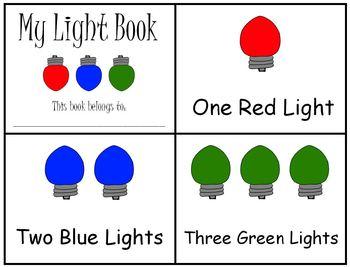Holiday Christmas Lights Emergent Reader Mini Book