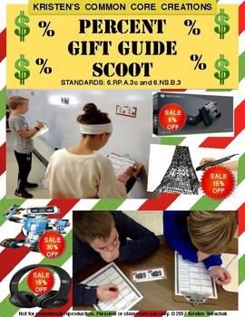 Holiday Christmas 6th Grade Math Center Percent Gift Scoot Engage NY Eureka