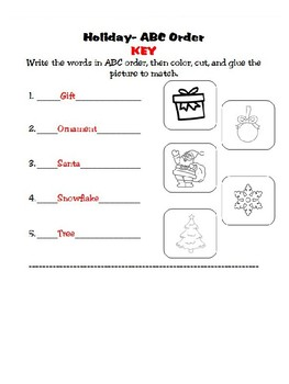 Holiday/Christmas Packet