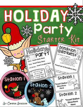 Holiday Christmas Party Starter Pack Templates, Forms and