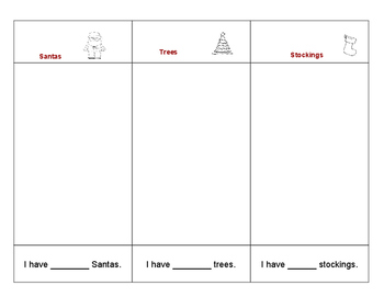 Holiday/Christmas Pasta Classify and Count Worksheet