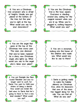 Holiday Christmas Point of View Writing Project (with Pronouns)