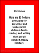 Christmas Language Arts Worksheets