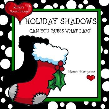 Holiday Christmas Shadows Book Vocabulary