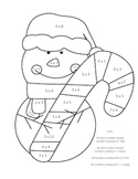 Holiday Christmas Snowman Multiplication Color by Number