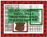 Holiday / Christmas Social Skills, Pragmatics, Manners game Speech therapy