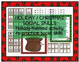 Holiday / Christmas Social Skills, Pragmatics, Manners game Speech therapy
