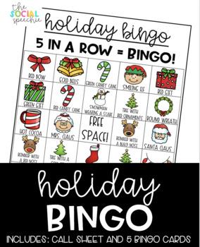 Holiday/Christmas Speech Bingo