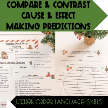 Holiday Christmas Speech and Language Literacy Mega Pack (CCSS)