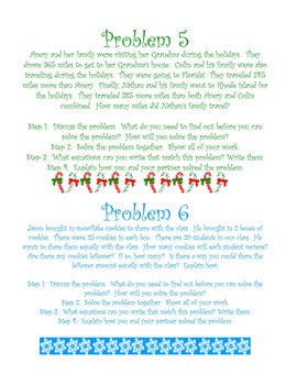 Holiday Christmas Task Cards: Addition, Subtraction, Multiplication, Division