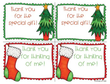 Holiday Thank You Notes- Freebie!