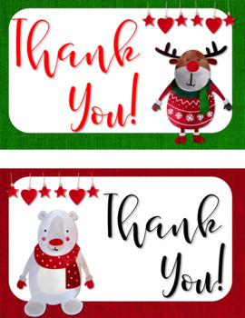 Holiday / Christmas Thank You Postcards {EDITABLE}