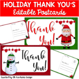 Holiday / Christmas Thank You Postcards | EDITABLE