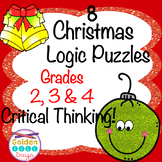 Christmas Logic Puzzles for Beginners! Critical Thinking For Grades 2, 3,& 4