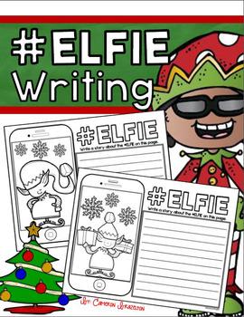 Holiday, Christmas, Winter, Elf Writing Activity #Elfie