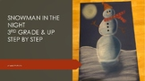 Holiday Christmas Winter Kids Snowman in the night art pro