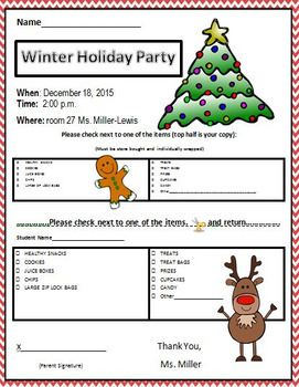 Holiday Christmas Winter Party Letter