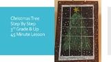 Holiday Christmas Winter Tree Kids oil pastel art artwork