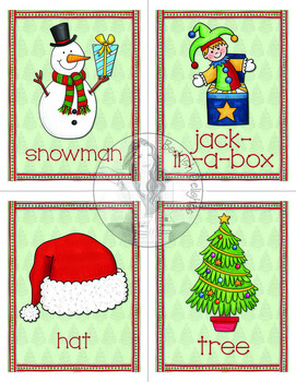 Holiday & Christmas Words - Flash Cards and Posters - English - Set of 22