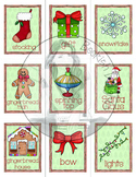 Holiday & Christmas Words - Flash Cards and Posters - Engl