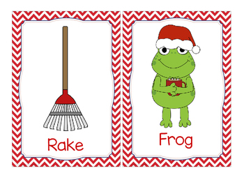 Holiday Christmas Write the Room-Rhyming Pairs