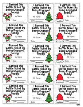 Holiday Classroom Engagement Raffle Tickets