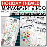 Distance Learning | Holiday Classroom Management Bingo | Game | Plan | Digital