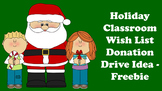 Holiday Classroom Wish List Donation Drive Idea - Freebie