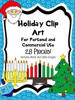 Holiday Clip Art Christmas Kwanzaa Hanukkah New Year