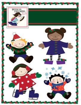 Holiday Clip Art Freebie - Winter/Christmas Kids