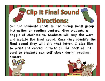 Holiday Clip It Final Sound Reading Center
