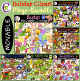 Holiday Clipart BUNDLE || MOVABLE IMAGES CLIPART