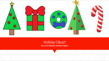 Holiday Clipart - Christmas set of 10