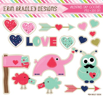 Holiday Clipart - Valentines Day Graphics