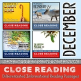 December Close Reading Bundle with Holiday Reading Passages