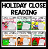 Holiday Nonfiction Reading Comprehension Bundle