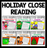 Holiday Nonfiction Reading Comprehension Bundle