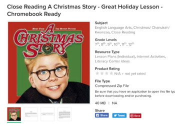 Holiday Close Reading Bundle - A Christmas Story - Let It Snow