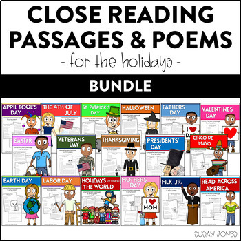 Holiday Close Reading Passages & Poetry for Primary Grades