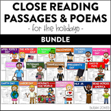 Holiday Close Reading Passages & Poetry for Primary Grades - The Bundle!