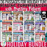 Reading Comprehension Activities Holiday Bundle | Close Re