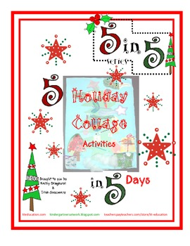 Holiday Collage Activities 5 in 5 Series